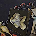 Knut Rose, Nedslitt Bauta, 2000, 89 x 116 cm