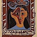 Pablo Picasso, Le Chapeau à Fleurs, 1963, 53 x 40 cm