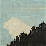 Astrid Nondal: Hvit sky over treranden, 2014, 31 x 37 cm