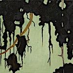 Astrid Nondal: Utsyn, lysegrønn, 2014, 25 x 30 cm
