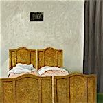Astrid Nondal: Værelse med grønt gulv, 2007, 135 x 165 cm