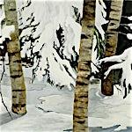Astrid Nondal: Snøskog, 2007, 135 x 150 cm