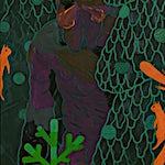 Christoffer Fjeldstad: Spruce and squirrels, 2011, 120 x 80 cm