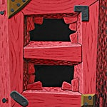 Christoffer Fjeldstad: Pink frame, 2017, 90 x 75 cm
