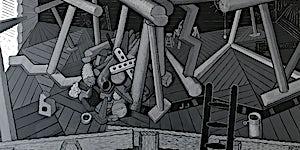 Christoffer Fjeldstad: Attic, 2017, 179 x 350 cm