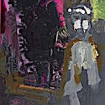 Dag Thoresen: Møtende, 2015, 127 x 80 cm