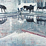 Frank Brunner: the pool #3, 2007, 150 x 175 cm
