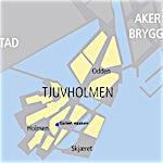 Galleri Haaken: Kart Tjuvholmen, 0000