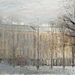 Halvard Haugerud: Fra Alexander Kiellands plass, 2009, 32 x 43 cm