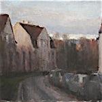 Halvard Haugerud: Kveld i oktober, 2009, 29 x 36 cm
