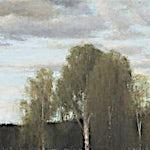 Halvard Haugerud:  Fire trær, 2012, 36 x 50 cm
