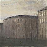 Halvard Haugerud: Gul himmel, 2012, 26 x 33 cm