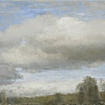 Halvard Haugerud: Skyer og trær, 2007, 32 x 46 cm