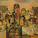 Halvdan Ljøsne: Byen, 1995, 95 x 135 cm