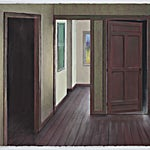 Ida Lorentzen: Study for Looking In the Mirror, 2016, 47 x 61 cm