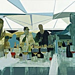 Kenneth Blom: Les Palmiers II, 2013, 130 x 150 cm