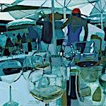 Kenneth Blom: Les Palmiers III, 2013, 100 x 120 cm