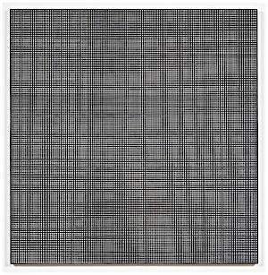 Kristin Nordhøy: Interlace No. 1, 2017, 120 x 118 cm