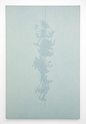 Lars Morell: Shadow Canvas 2, 2014, 180 x 120 cm