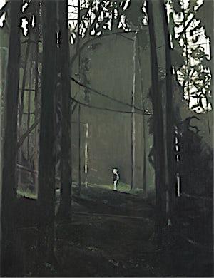 Marius Engstrøm, In the deep brown black of the trees, 2011, 116 x 89 cm