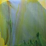 Olivier Debré: La montagne verte Lærdal, 1990, 180 x 180 cm