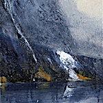 �rnulf Opdahl: Fjord studie, 2015, 30 x 30 cm
