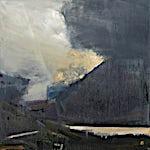 Ørnulf Opdahl: Lys, 2018, 80 x 80 cm