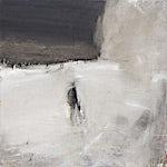 Ørnulf Opdahl: Jeger i snø, 2007, 80 x 80 cm