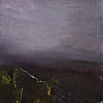 Ørnulf Opdahl: Landskap med lyn, 2007, 100 x 100 cm