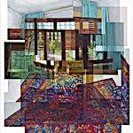 Øystein Tømmerås: Volum 3.k (rytmisk-gulvteppe-med-slumrende-morgen-utenfor-mix), 2011, 150 x 120 cm