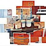 Øystein Tømmerås: Nr 5. (bahco-bankett-mix), 2013, 90 x 100 cm