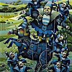 Terje Ythjall: Friluftsforestilling (søndag), 2004, 100 x 82 cm