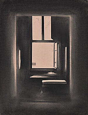 Ulf Nilsen, The Open Window II, 2014, 65 x 50 cm